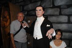 Con Bela Lugosi, el primer Conde Drácula.