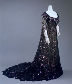 Sequin evening gown, 1902