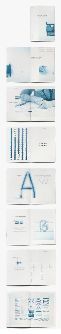 Typo: Klartext Mono — Typeface & Brochure by Florian Klauer, via Behance — https://www.behance.net/gallery/Klartext-Mono-Typeface-Brochure/14301949