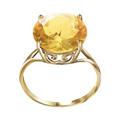 55 Carat 14k Solid Gold Ring with Natural 120 MM Round Citrine  Size 9 *** Check this awesome product by going to the link at the image.Note:It is affiliate link to Amazon.