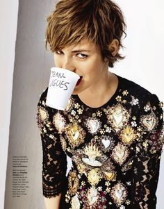 Louise Bourgoin - Grazia France, May 2015 - Dolce & Gabbana