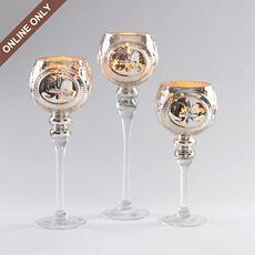 Vintage Mercury Glass Charisma, Set of 3 at Kirkland's