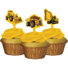 Construction Zone Party Pick Cupcake Decorations (12 ct) Creative Converting http://www.amazon.com/dp/B00IRIR1ZO/ref=cm_sw_r_pi_dp_iHEYtb0V3BWCVMKS