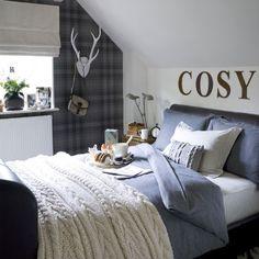 Cosy bedroom decorating ideas 10 of the best ideal home Spare Bedroom Decor, Cosy Bedroom, Guest Bedrooms, Bedroom Ideas, Bedroom Retreat, Spare Room, Girl Bedrooms, Plaid Bedroom, Preppy Bedroom