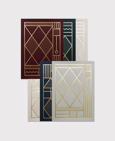 Kristina Krogh | Foiled letterpress cards inspired by old iron entrances in Italy