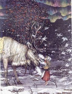 Boris Diodorov illustration for 'The Snow Queen' by Hans Christian Andersen Winter Illustration, Children's Book Illustration, Snow Maiden, Fairytale Art, Snow Queen, Conte, Christmas Art, Fantasy Art, Fantasy Makeup