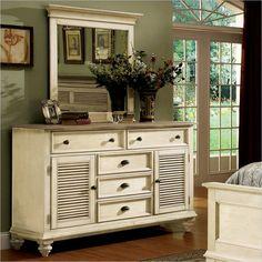 Riverside Furniture Coventry Two Tone Dresser in Dover White                                                                                                                                                                                 More