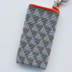Opskrift på hæklet iPhone Cover (med hank) - Lutter Idyl
