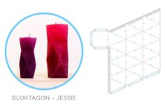 Geometric Downloadables for Concrete Vases, Coat Hooks and Candle Moulds - Image Jesse