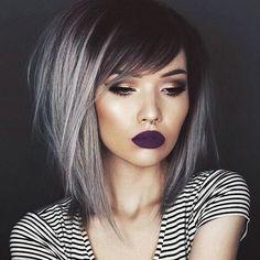 Chic Medium Length Hair Styles - Ombre Haircut for Women Thick Hair