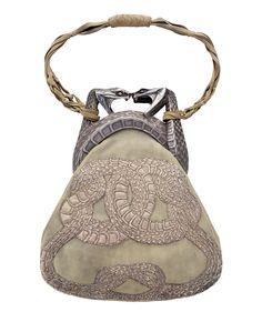 "Art Nouveau Rene Lalique Esmerian bag - 1901  - ""Purse with Two Serpents"" - Private Collection - @~Mlle"