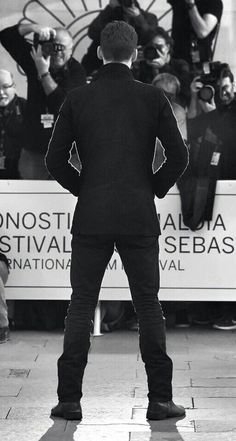 He looks good even from the back.