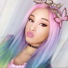 Any color looks great on bae!  #Ariana