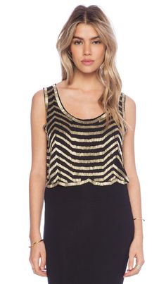 Raga Embellished Tank in Black