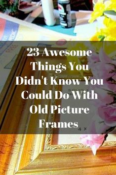 23 Awesome Things You Didn't Know You Could Do With Old Picture Frames- Transform your old picture frames with these 23 inspirational ideas. Uses For Dryer Sheets, Homemade Air Freshener, Discount Bedroom Furniture, Old Picture Frames, Pinterest Crafts, Diy Wall Shelves, Diy Desk, Do It Yourself Home, Diy Frame