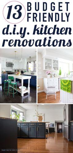 affordable diy kitchen renovation ideas