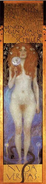 """Translation """"If you can't please everybody with your deeds and your art, please only few. To please many is bad. Schiller"""" Artist Gustav Klimt"""