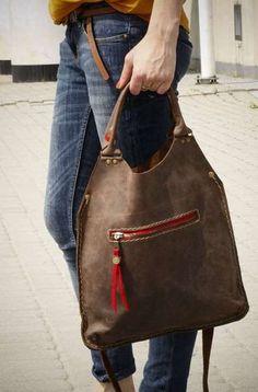 La bolsa de asas de cuero cada bolsa MAŁA LADYBUQ de LADYBUQ por DaWanda.com