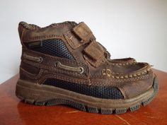 Sperry Barracuda Leather shoes Boys size 9.5, Nice, Brown, #Sperry #Oxfords