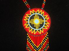 native american necklace, sun necklace by deancouchie on Etsy
