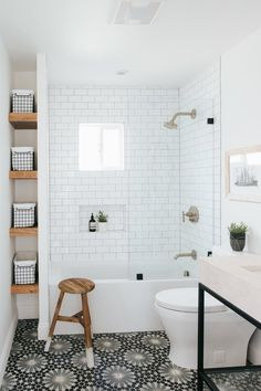 Check out a number of master bathroom styles as you dream up your own master bathroom renovations. Tips, tricks, and a lot of fresh, fun, and functional master bathroom design a few ideas are in your fingertips. All White Bathroom, Mold In Bathroom, Steam Showers Bathroom, Bathroom Storage, Bathroom Ideas, Bathroom Organization, Master Bathrooms, Bathroom Cabinets, Minimal Bathroom