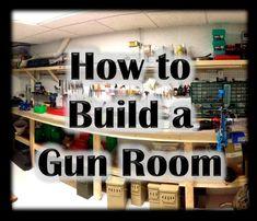 Transform a suburban basement to a gun work room! Ammo Storage, Weapon Storage, Gun Safe Room, Reloading Room, Shooting Guns, Shooting Range, Shooting Bench, Shooting Sports, Gun Vault