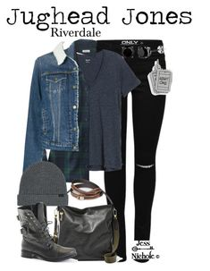 """Outfit inspired by Jughead Jones from The CW's TV series """"Riverdale"""". Tv Show Outfits, Fandom Outfits, Punk Outfits, Teen Fashion Outfits, Cute Casual Outfits, Outfits For Teens, Fashion Dresses, Disfraces Stranger Things, Nerd Fashion"""