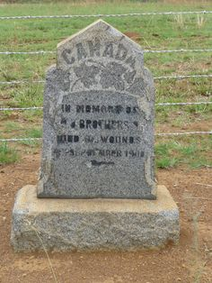 3. Canadian Memorial - Anglo Boer War.  Mpumalanga, LYDENBURG district, Kwena Dam, Badfontein 114, Relocated Graves. War Memorials, Armed Conflict, South Africa, Southern, Wanderlust, Memories, History, Photos, Historia