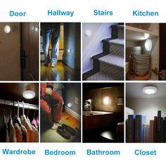 amir motion sensor light Closet Lighting, Hallway Lighting, Led Solar, High Power Led, Bathroom Closet, Hallway Closet, Stairs In Kitchen, Light Sensor, Led Night Light