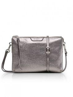 48f333615 MZ Wallace Pippa Crossbody Bag in Gunmetal Leather Leather Crossbody, Crossbody  Bag, Shoulder Bag