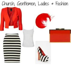 Nothing beats a red, black and white outfit! !!
