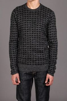 RVCA Clothing The Beard Pullover Sweater Charcoal Heather