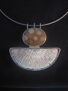 Stargazer in sterling silver, fossil coral, found coral  $400.00  | e-bu Jewelry - Contemporary Primitive Jewelry
