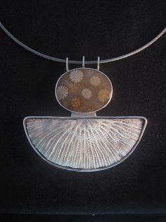 Stargazer in sterling silver, fossil coral, found coral  $400.00  | e-bu Jewelry - Contemporary Primitive Jewelry