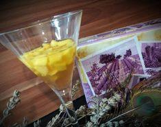 Mangós borkocsonya zselés szaloncukorból levendula virággal