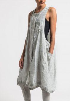 Rundholz Black Label Sleeveless Oversized Dress in Sea