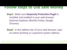 How to Use Safe Money in Kaspersky Internet Security?