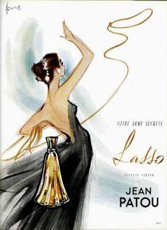 Jean Patou 'Lasso' perfume advertisement, 1950s.