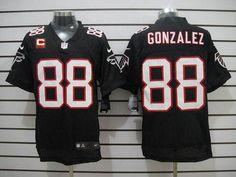 NFL Jerseys Nike Falcons  88 Tony Gonzalez Black Alternate With C Patch  Men s Stitched NFL 1dca3345a