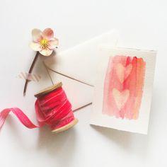 DIY : wax resist watercolor cards