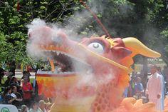 Dragon float - love the smoke