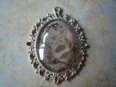 """Antique Silver Nature Pendant 2 1/2"""" by 2"""" by ForeverCreateDesigns on Etsy"""
