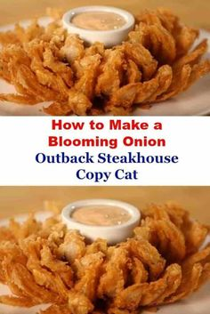 How to Make a Blooming Onion – Outback Steakhouse Copy Cat. It's hard to hold back whenever you see those blooming onions at Outback Steakhouse and other classic restaurants. Outback Blooming Onion Sauce, Blooming Onion Recipes, Baked Blooming Onion, Blooming Onion Air Fryer, Blooming Onion Dipping Sauce Recipe, Air Fryer Recipes Breakfast, Air Fryer Oven Recipes, Deep Fryer Recipes, Breakfast Meals