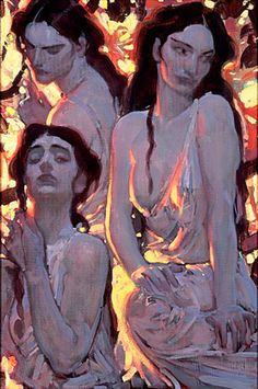John Watkiss, I saw this painting at Comicon years ago. Art And Illustration, Illustrations, Figure Painting, Painting & Drawing, Painting Inspiration, Art Inspo, Figurative Kunst, Wow Art, Art Graphique