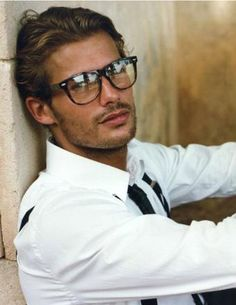 Oh hi, beautiful man with a perfect face, perfect glasses, and perfect hair.