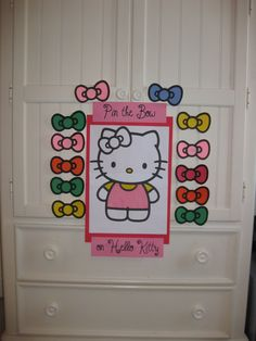 diy Hello Kitty decoration and activity/game for a birthday party