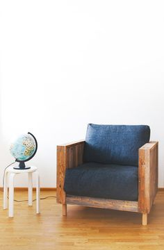 Olo-armchair made of recycled materials. Design by Jaakko Mäntylä