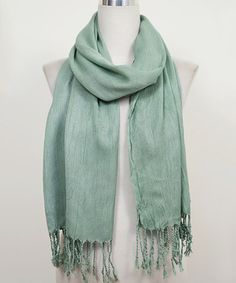 Another great find on #zulily! Moss Fringe Scarf by Do Everything In Love #zulilyfinds