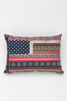 fun pillows for a pillow nook or on the couch Magical Thinking Boho Flag Pillow #urbanoutfitters #pintowin #anthropologie
