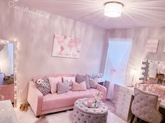 Teen girl bedrooms, check out this trick for one really superb room styling, reference number 2078457681 Bedroom Decor For Teen Girls, Cute Bedroom Ideas, Cute Room Decor, Girl Bedroom Designs, Room Ideas Bedroom, Teen Room Decor, Small Room Bedroom, Wall Decor, Makeup Room Decor